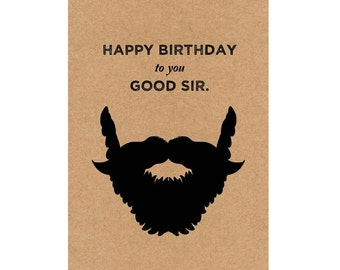 A6 Greeting Card - Happy Birthday to you Good Sir