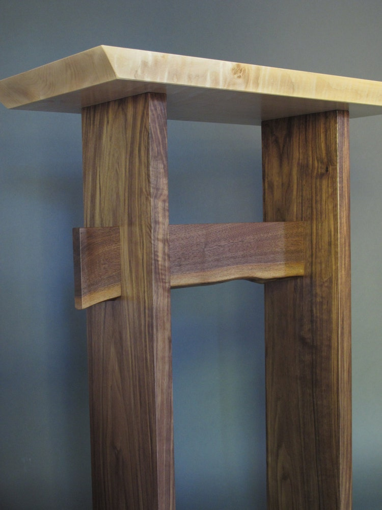 Stand Up Desk Modern Wood Writing Desk Tall By