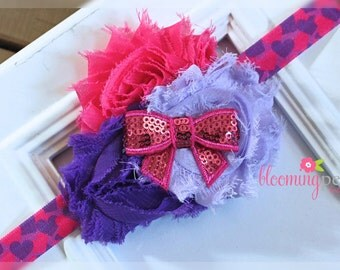 Valentines Day Glitter Headband