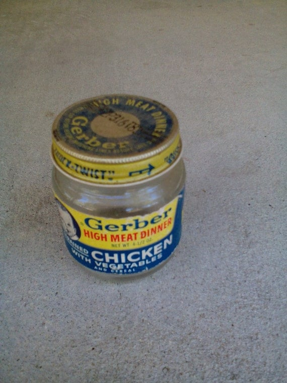 Gerber Baby Food Jar Great Collectors Item Top On Jar And