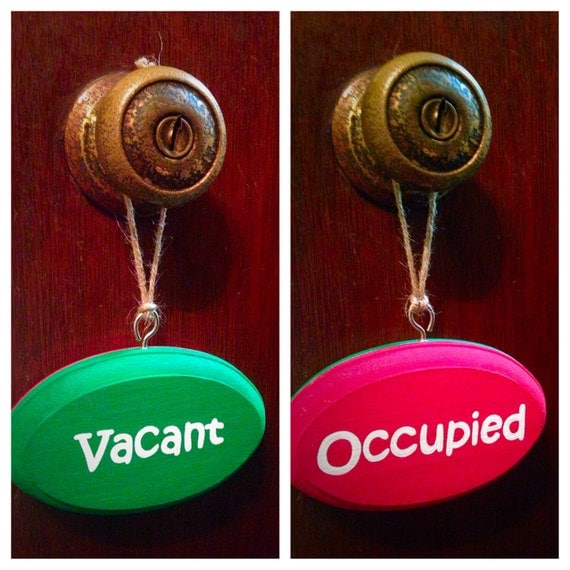 Bathroom Sign Occupied vacant/occupied double sided bathroom sign red/green kids