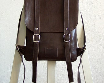 Chocolate brown leather backpack rucksack / To order / Leather backpack / Leather rucksack / Womens backpack / Christmas Gift