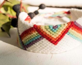 Rainbow Friendship Bracelet-3