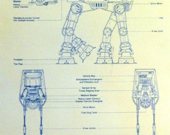 Star Wars At-At Blueprint