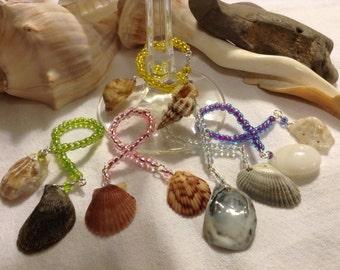 Sea Shell Wine Glass Charms