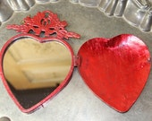 Metal heart, exvoto heart, metal heart mirror, Mediterranea Design Studio, Valentine's Heart, heart decor, metal wall decor, Valentine's Day