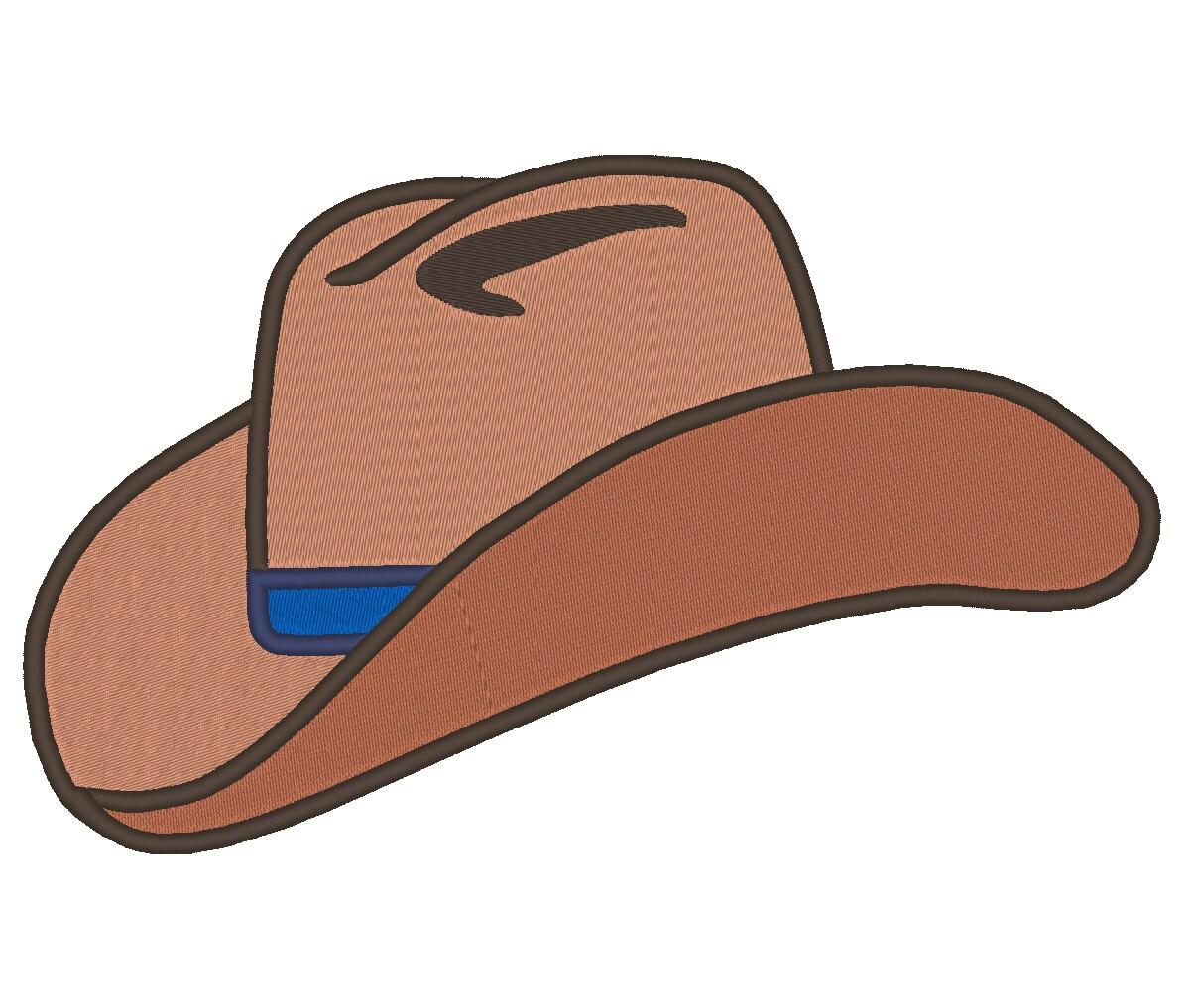 Cowboy Hat Embroidery Machine Design