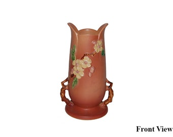 Antique Roseville Apple Blossom 389 Vase