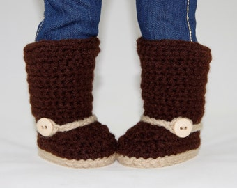 PDF CROCHET PATTERN Mini Sweater Boots for American Girl