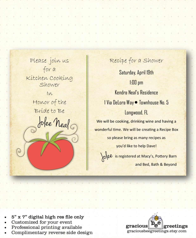 Bridal Shower Invitation Kitchen Couples Jack Jill