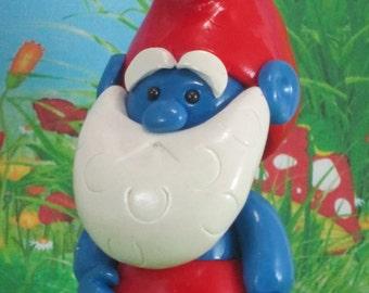 Blue Gnome for Fairy Garden OOAK handmade miniature