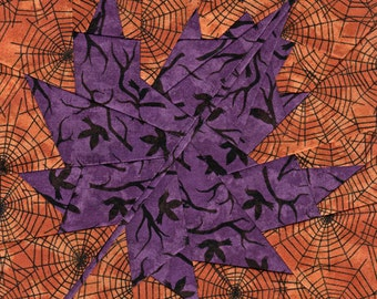 Fall Maple Leaf - Paper Piecing