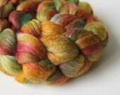 SALE: Silk Merino Wool Roving - Hand Painted Felting or Spinning Fiber