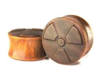 Radioactive 01 Pattern Organic Handmade Wooden Plugs/Gauges 10mm-40mm