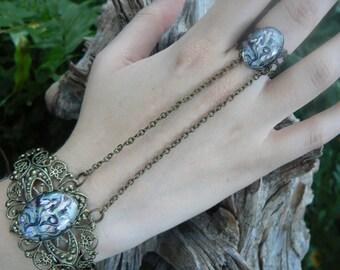 mermaid hand chain slave bracelet mermaid jewelry  goddess cuff siren fantasy resort wear cruise wear beach wear hipster gypsy boho