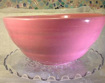 Vintage Pink Ceramic Mixing Bowl