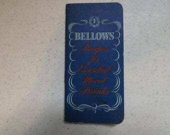 Unique and Rare Bellows Recipes Drink Book