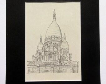 Sacre Coeur Pencil Drawing