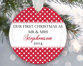 Our First Christmas Personalized Christmas Ornament Christmas Gift Custom Choose Pattern Name & Date Design your own Personalized Gift OR263