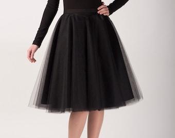 Circle tulle skirt, Handmade tutu skirt, High quality skirt, black skirt, petticoat