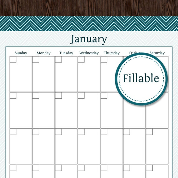Fillable 2016 Calendars | Calendar Template 2016