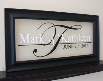 Personalized Wedding Sign - Wedding Gift Sign