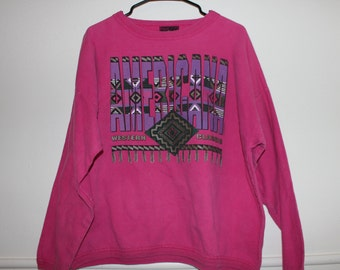 hot pink american west southwester sweatshirt sweater