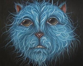 Original Oil Painting Creature 12X12