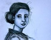 Portrait of Jess Original Art