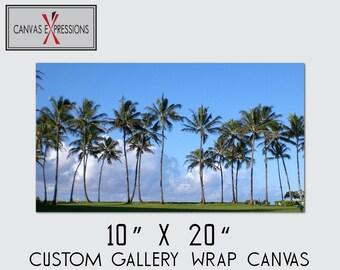 "10"" X 20"" Custom Photo Canvas Gallery Wrap Prints"