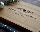 Personalized Cutting Board Engraved Bamboo Wood  for wedding, anniversary gift