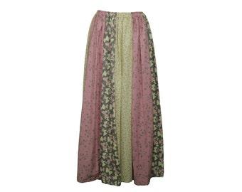 Festival Skirt Handmade OOAK bright hippie cotton butterfly butterflies flowers