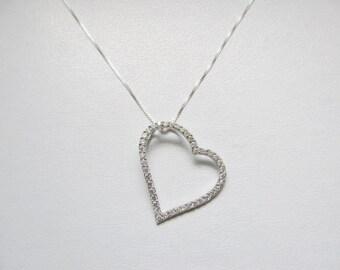 Heart CZ Pendant 925 Sterling Silver