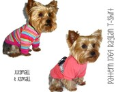 Dog Tee Shirt Pattern 1764 * XXSmall & XSmall * Dog Clothes Sewing Pattern * Dog T Shirt * Dog Shirt Pattern * Dog Apparel * Dog Clothing