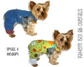 Dog Overalls Pattern 1501 * Small & Medium * Dog Clothes Pattern * Dog Pants Pattern * Dog Onesie * Dog Suit * Dog Apparel * Dog Outfit