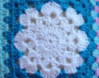 Granny Square Blanket Crochet Pattern Easy Pattern By Jamborel