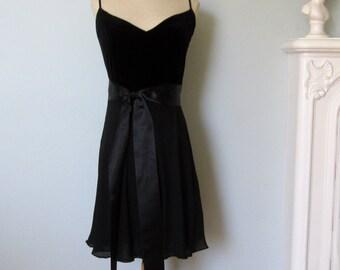 Black Silk Dress, Velvet Dress, Anne Klein Dress, Little Black Dress, Prom Dress, Black Dress, Black Velvet Dress, Black Evening Dress