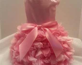 Dog Dress, Dog Clothing, Dog Wedding Dress, Pet Clothing, Pink Satin Ruffles