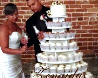 wedding cake to feed 150 cupcake stand 7 tier 200 cupcakes threaded rod and 26286