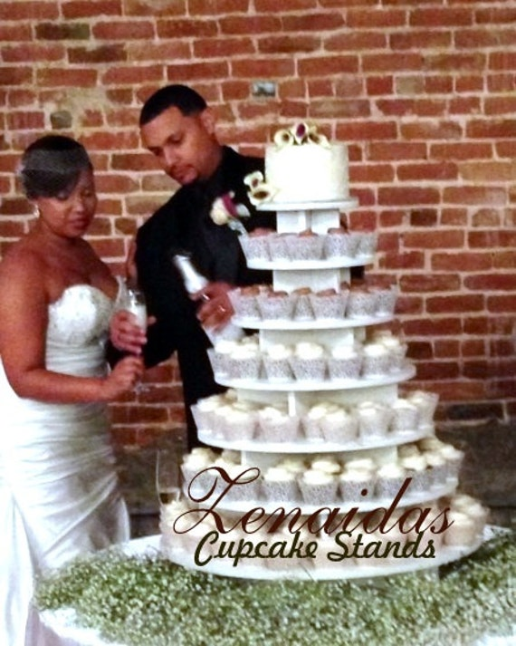Cupcake Stand 7 Tier Round 200 Cupcakes Unpainted DIY Project
