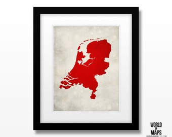 Map of netherlands  Etsy