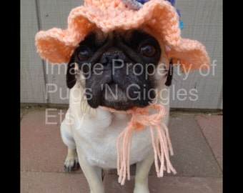 Pugs-Sunhat For Dogs-Hats For Dogs-Pugs In Hats-Novelty Dog Hats-Summer Dog Items-Puglife