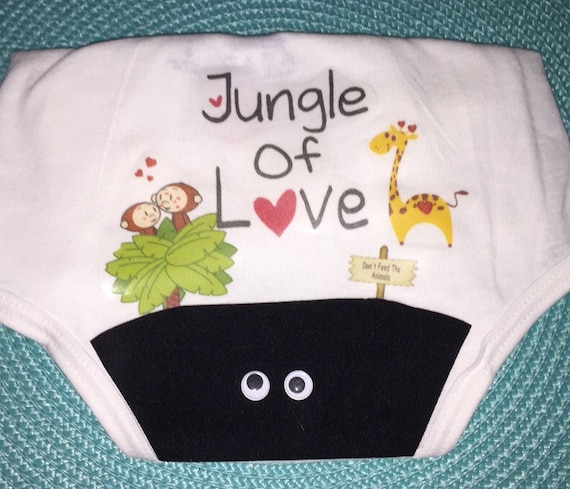 Jungle of Love Bush Panty for your Bachelorette Party, Lingerie Shower, Bridal Shower or Birthday Party.