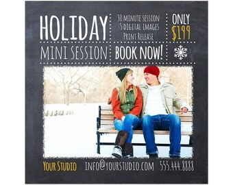 Holiday Mini Session Photoshop Template 006