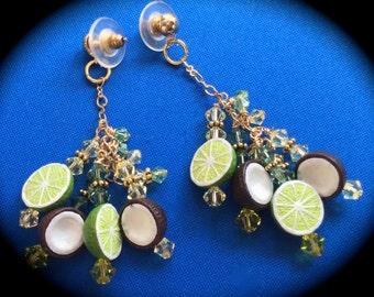Put 'da Lime in 'da Coconut Earrings