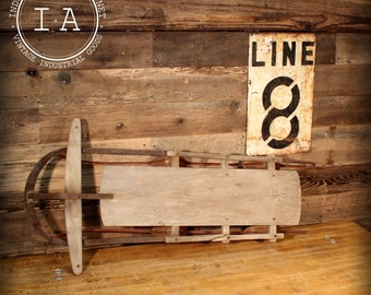 Vintage Industrial Runner Sled Wall Hanging Rustic Christmas Country Farm Decor