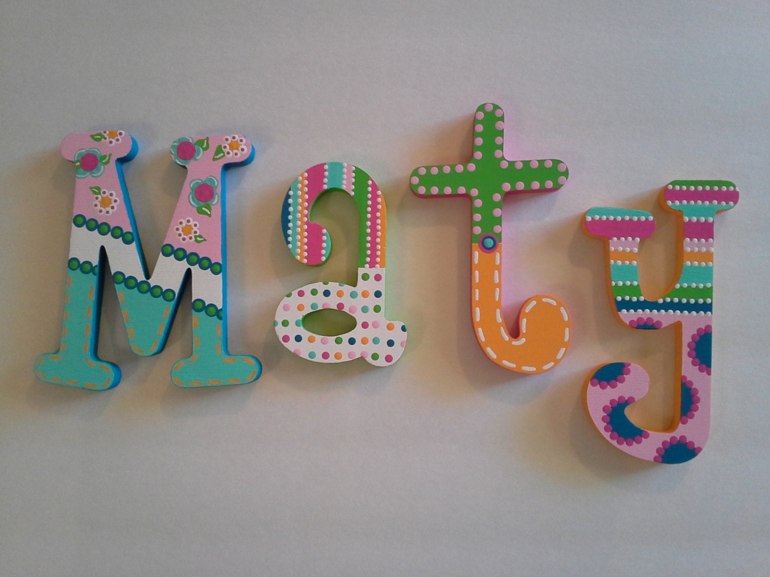 Customized Hand Painted Wooden Letters By LubellasEverAfter