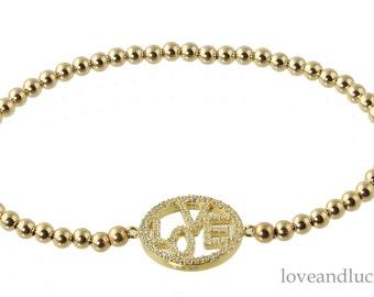 Gold Filed LOVE Bracelet -  bra-gf-love