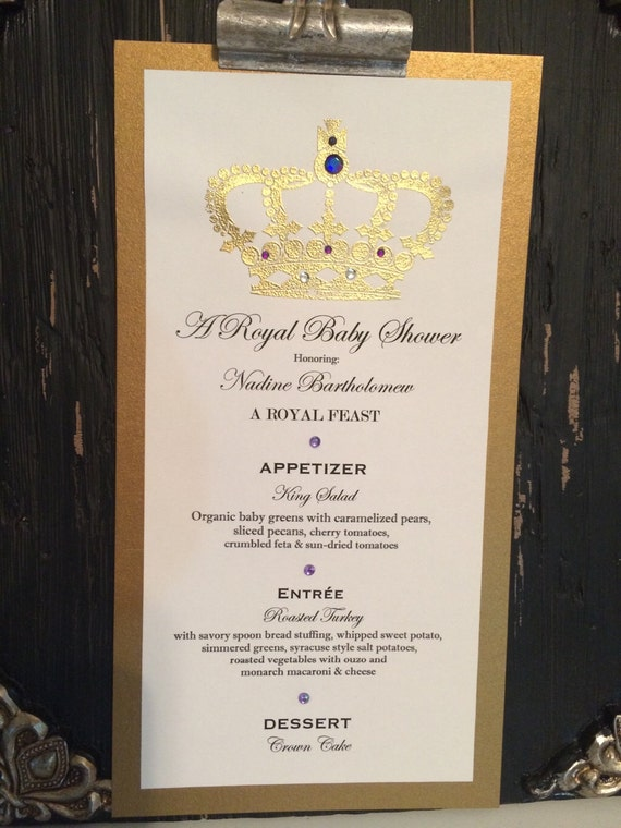 Foodie Package: Royal Baby Shower Menu