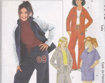 McCalls 4149 Vintage Pattern Girls Jacket, Pants and Shorts Size 12,14,16 UNCUT